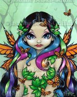 Spring Butterfly Maiden by jasminetoad