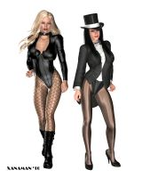 Zatanna and Black Canary by xanaman