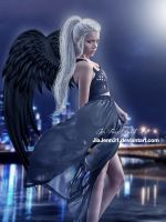 Black Angel city by JiaJenn31