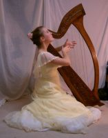 YellowLadyHarp4 by Nekoha-stock