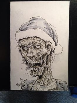 Christmas Zombie by Gazbot