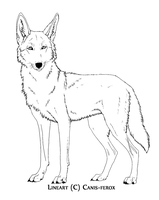 Coyote-- free lineart Paint friendly version by Canis-ferox