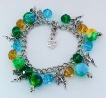 Beaded Wood Fairy Charm Bracelet by Wind-UpLadybug