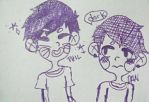 Dan and Phil doodle by yourkohai