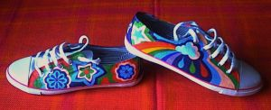2nd pair of painted shoes 2 by amythystelle