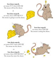 FairyLang Mouse and Cheese Conjugation by JohnRaptor