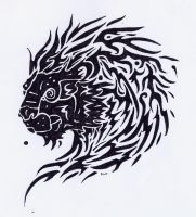 Celtic lion Tatoo by Kikiro-Shiashu