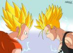 Pan ssj2 vs Trunks ssj2 DBA by HelvecioBNF