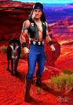 Mortal Kombat - DOTR: Nightwolf and Kiba by JhonatasBatalha