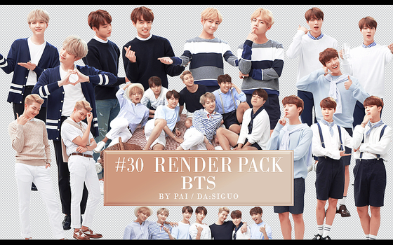 BTS  RENDER PACK #30 by Pai by Siguo