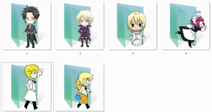 Black Butler Folder Icons by Ginokami6