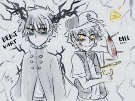 [Doodle] Beast!Wirt and Bipper by Nadi-Chan