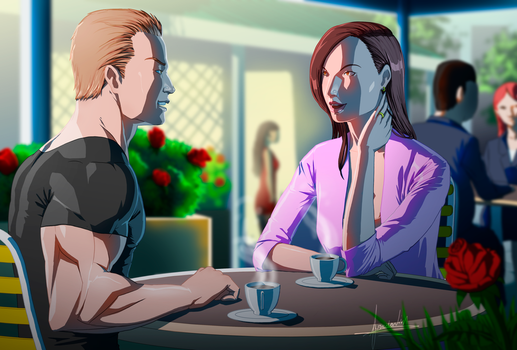 Jack And Denise Date by fradarlin