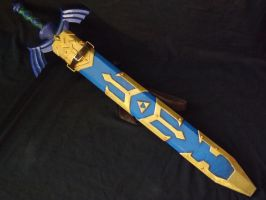Master sword and Sheath Skyward Sword 01 by DonnixProps