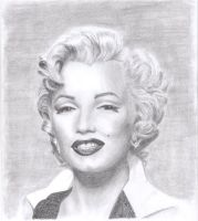 Marylin Monroe by geekydwarf