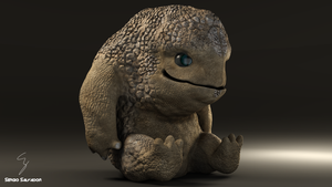 Baby Krogan Final by darthgogeta24