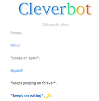 Cleverbot Eats Poop Literally by Caution-Koneko