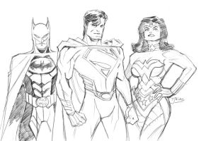 DC Trinity Redesign by guinnessyde