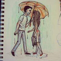 Saved by the Umbrella by meghanart
