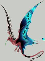 Whiptail Fairy-dragon by greyanimebeast