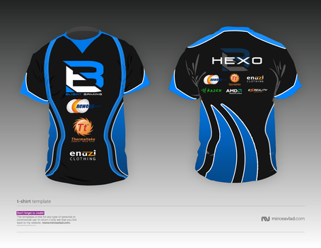 Blight Gaming Jersey test/draft by SamHexo