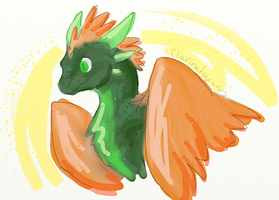 Flight Rising Wildclaw Doodle by Clarinetosaurus