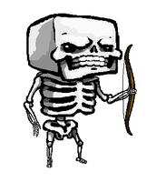 Minecraft Skeleton by SirCaterpie
