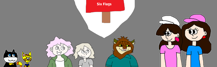 Nagito, Joshua and Others at Six Flags by MikeEddyAdmirer89