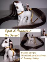 Opal and Francois the Ferret by DeepDarkCreations
