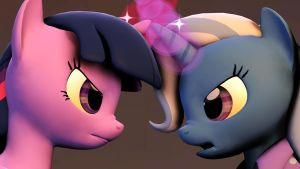 Twilight Face-to-Face with Trixie by RaiinbowDashRD
