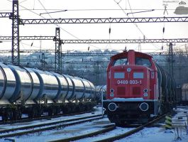 0469 003-1 with freight in Budapest Kelenfold by morpheus880223