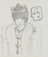 5 min Sketches - King Qayin 1 by BunnyVoid