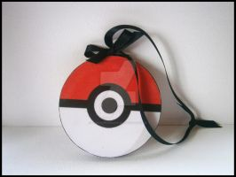 Pokeball hanging ornament by thepapermaker