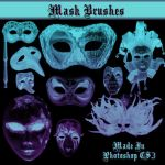 Mask Brushes by dollieflesh-stock