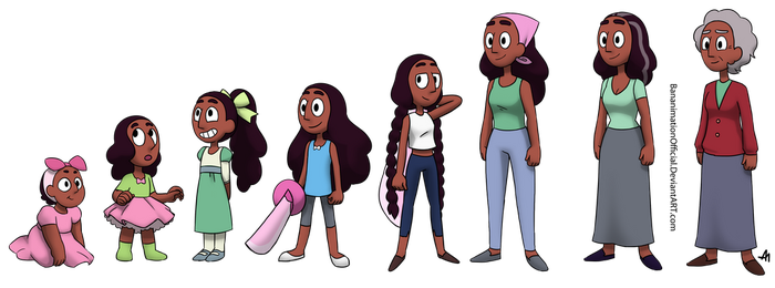 Commission for Davaba19 - Connie Ages by BananimationOfficial
