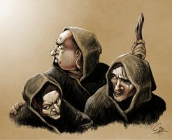 The Weird Sisters from Macbeth by outsidelogic