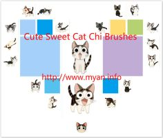 19 Cute Sweet Cat Chi Brushes for Photoshop by Jia by Jiangsir
