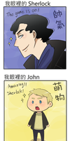 BBC Sherlock and John In my view by aulauly7