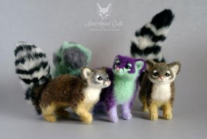 Cacomistles / Ring-tailed cats by SaniAmaniCrafts