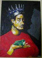 King and frog by Dinahleit
