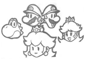 Paper Mario Good Guy Cast by Starforce69