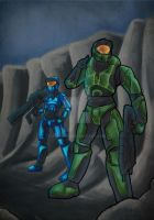 John-117 and Kelly-085 by ronnie92