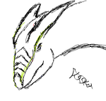 Practice Sketch: Dragon by Audrykuu