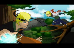 Naruto - Two Blonds, Two Hokages?! by BlackChaotic