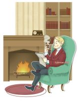 by the fire by LoftyLace