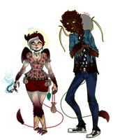 The Cuervo Siblings { Updated Info } by BitterBile