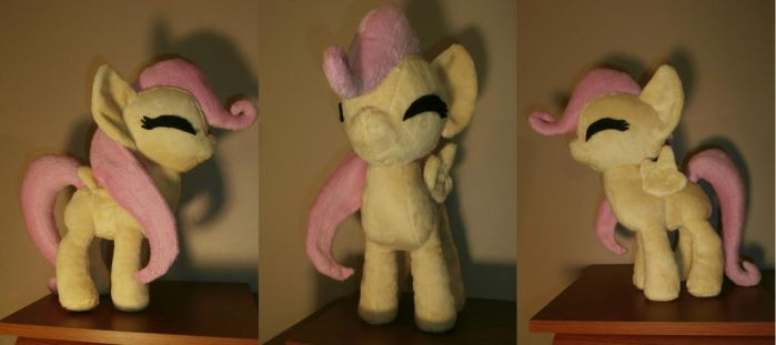 Filly Fluttershy Plushie by Uminohoshi