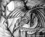 Sleeping Dragon by EdArtGeek