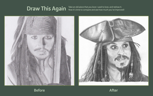 Draw this Again : Jack Sparrow by marcelkiss