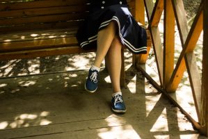 Blue shoes by LifeFun